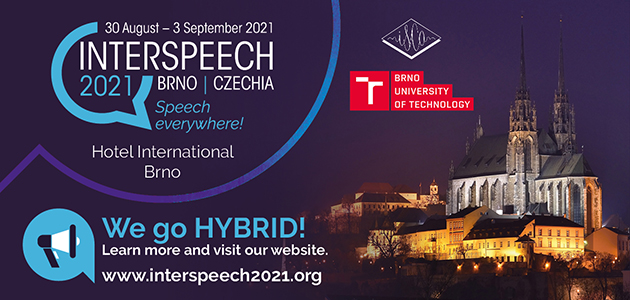 VivoLab presents two papers at Interspeech 2021, held in Brno from August 30 to September 3